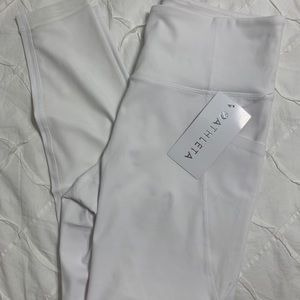 white athleta leggings